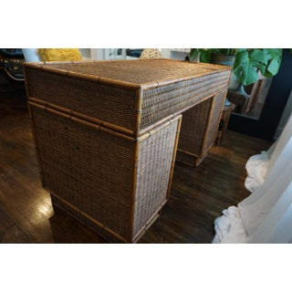 1960s Vintage Bamboo Campaign Desk Preview