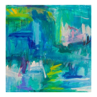 """Abstract Oil Painting by Trixie Pitts """"Caribbean Calm"""""""