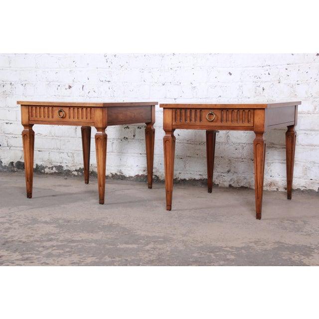Baker Furniture Company Baker Furniture Milling Road French Regency End Tables, Pair For Sale - Image 4 of 12