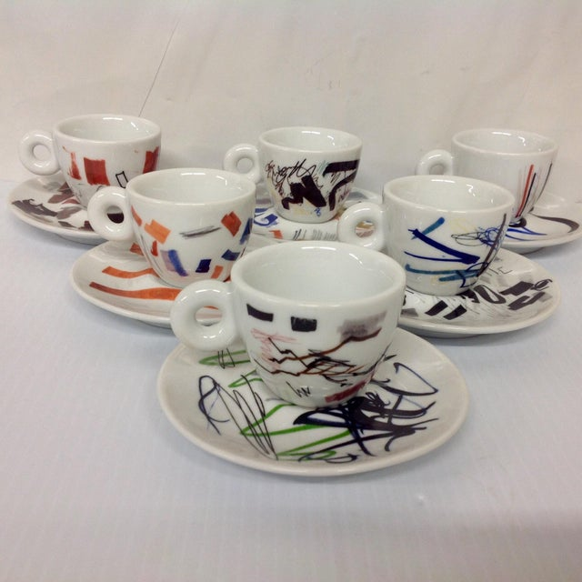 Padraig Timoney Illy Espresso Cups - Set of 6 - Image 2 of 6