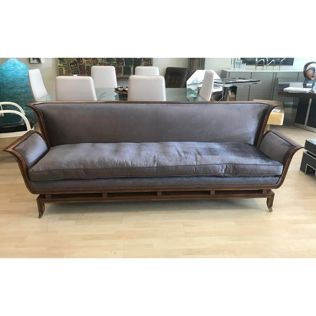 1950s Mid-Century Modern James Mont Style Walnut Sofa For Sale - Image 10 of 10