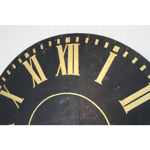 Industrial Monumental Tower Clock Face For Sale - Image 3 of 8