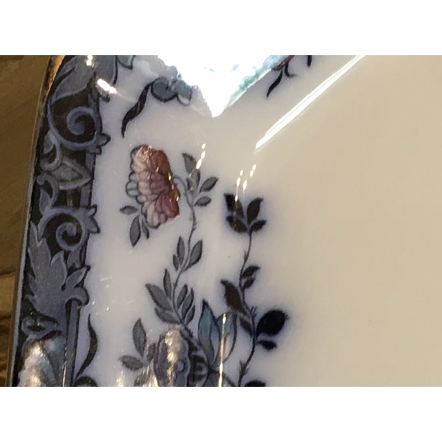 Late 20th Century English Staffordshire Style Ironstone Blue & White Platter For Sale - Image 9 of 13