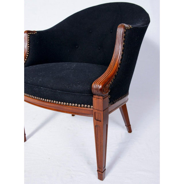 Black Pair of Frits Henningsen Lounge Chairs For Sale - Image 8 of 10