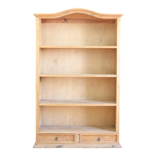 Rustic Solid Wood Bookcase For Sale