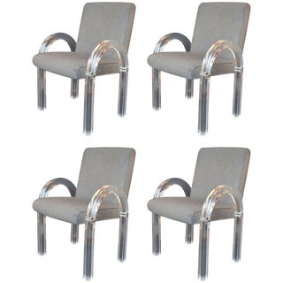 Set of Four Charles Hollis Jones Armchairs For Sale