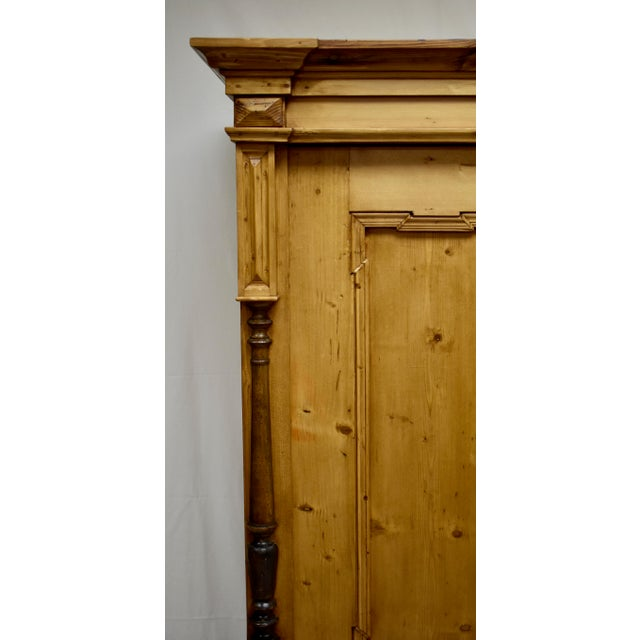 Late 19th Century Pine Two Door Armoire For Sale - Image 5 of 13
