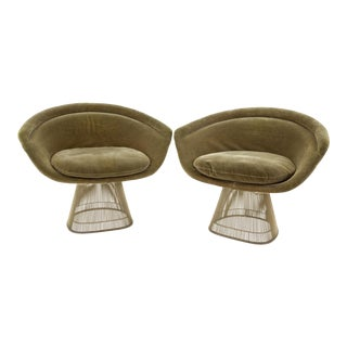 Mid Century Modern Warren Platner Lounge Chairs - a Pair For Sale