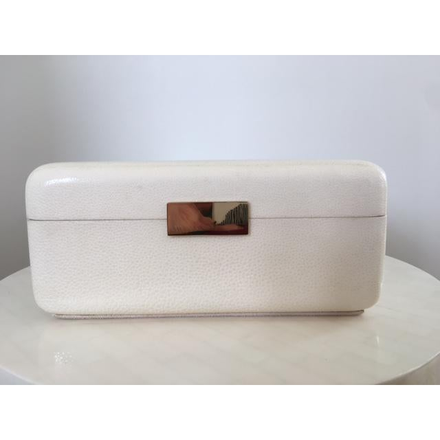 Cream Shagreen Jewelry Box - Image 2 of 6