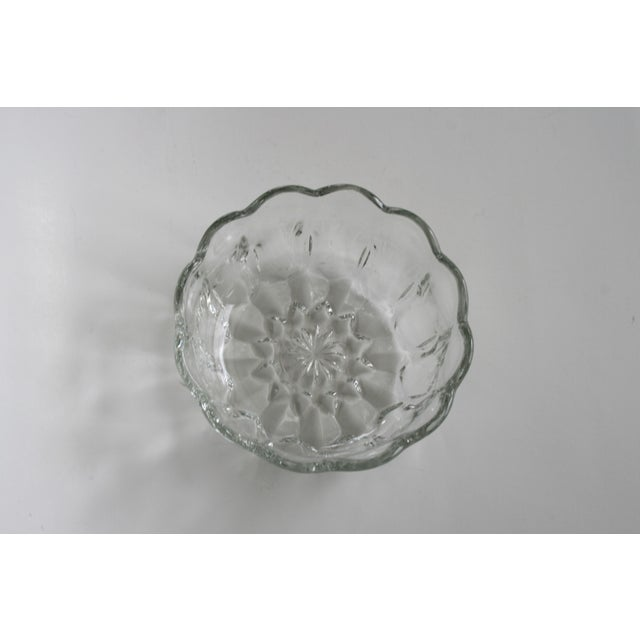Glass Flower Shaped Bowl For Sale - Image 4 of 5