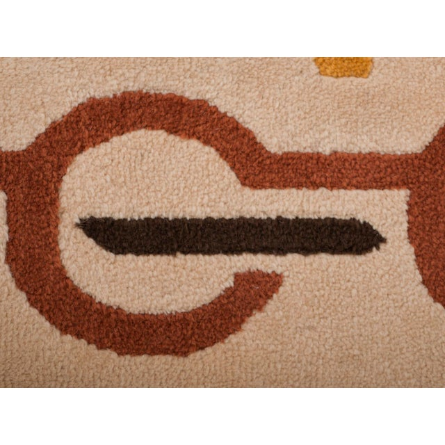 Red Modernist Wool Rug by Pierre Cardin in Golden Yellow, Denmark 1960s For Sale - Image 8 of 11