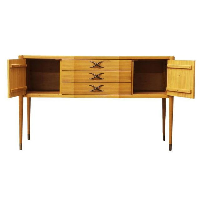 Rare Brown Saltman Bleached Mahogany Credenza by Paul Frankl - Image 4 of 4