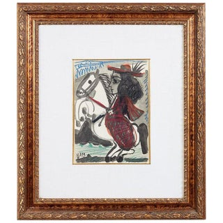 Woman on Horse Lithograph After Pablo Picasso For Sale