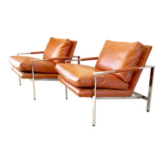 Mid Century Modern Milo Baughman Lounge Chairs - a Pair For Sale