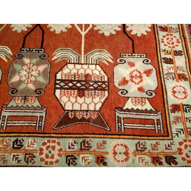 Vintage Khotan Vase Carpet - 5′ × 8′ For Sale In Chicago - Image 6 of 13