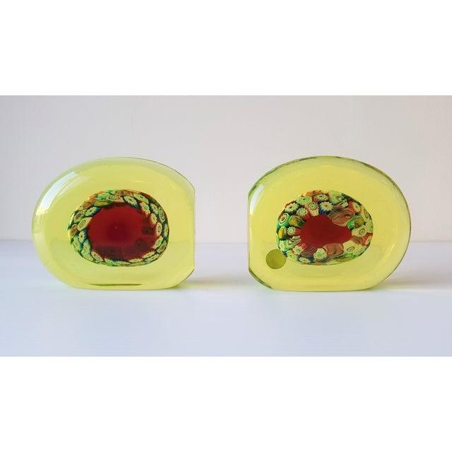 Green 1950s Galliano Ferro Murano Glass Pin Wheel Bookends for Fornasa De Mvran a l'Insegna Moreto - a Pair For Sale - Image 8 of 8