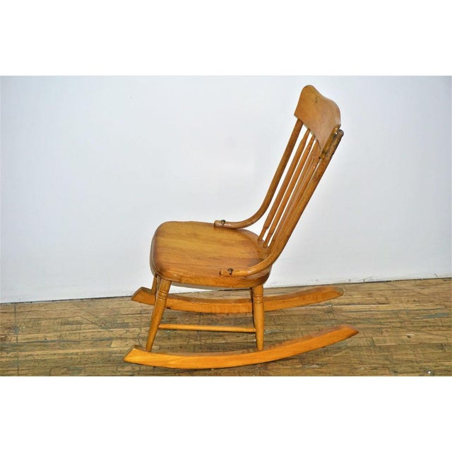 Vintage Wood Rocking Chair - Image 8 of 8