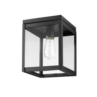 Uptown 1 Light Outdoor Flush Mount, Black For Sale
