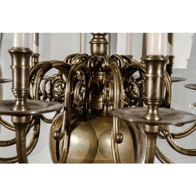 Brass 12-Light Chandelier For Sale - Image 7 of 10