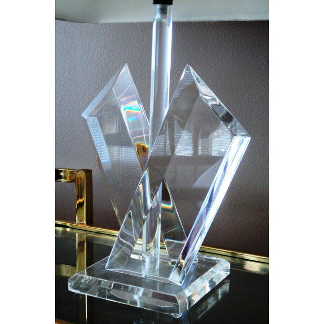 Van Teal Sculptural Lucite Lamps - A Pair - Image 5 of 7