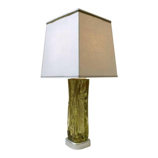 Italian Murano Glass Table Lamp by Seguso for Marbro For Sale