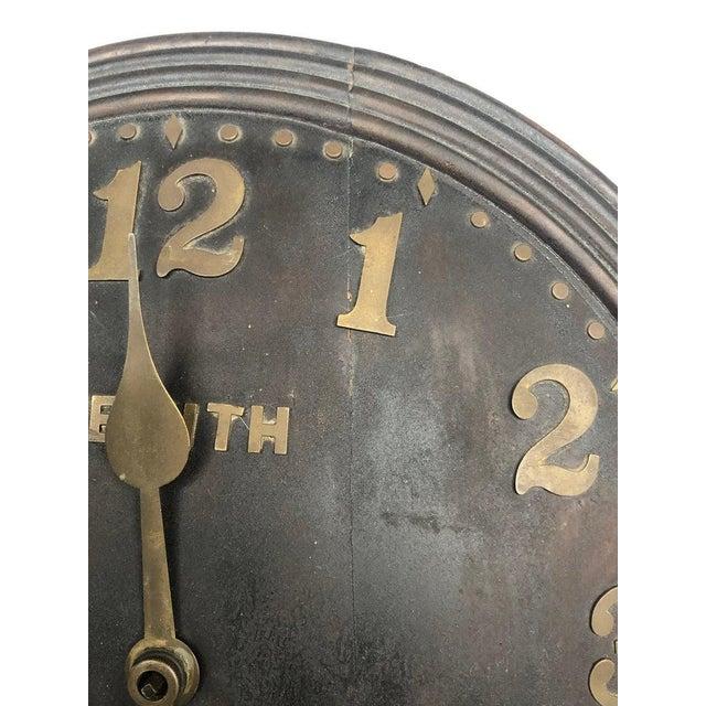 Zenith 1930s Art Deco Zenith Wall Clock Decor For Sale - Image 4 of 12