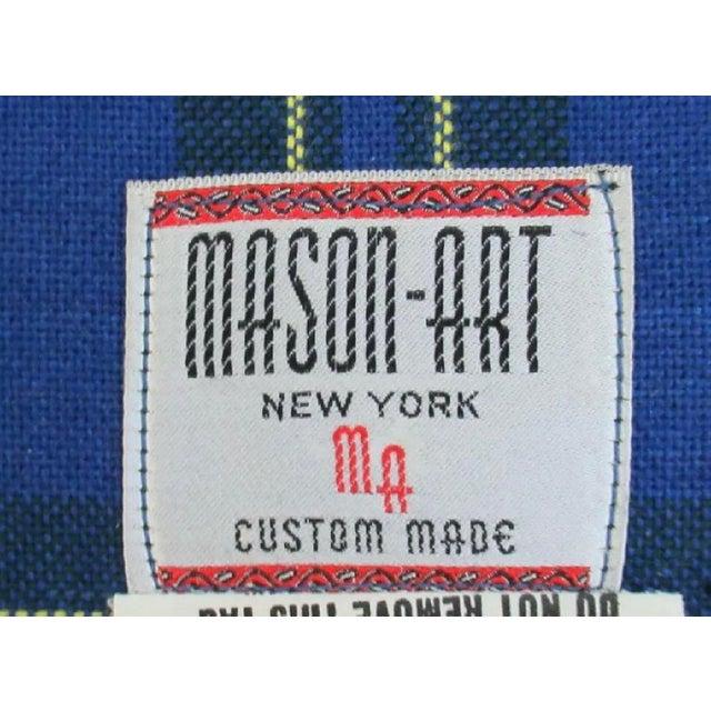 1990s Vintage Custom Plaid Mason-Art Ny Sheraton Mahogany Sofa For Sale - Image 4 of 5