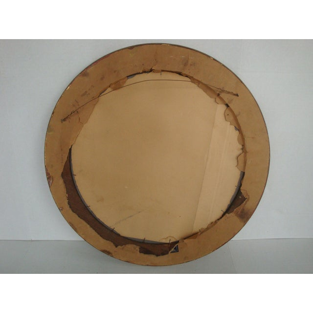 Art & Crafts Aesthetic Movement Giltwood Round Mirror For Sale In Richmond - Image 6 of 7