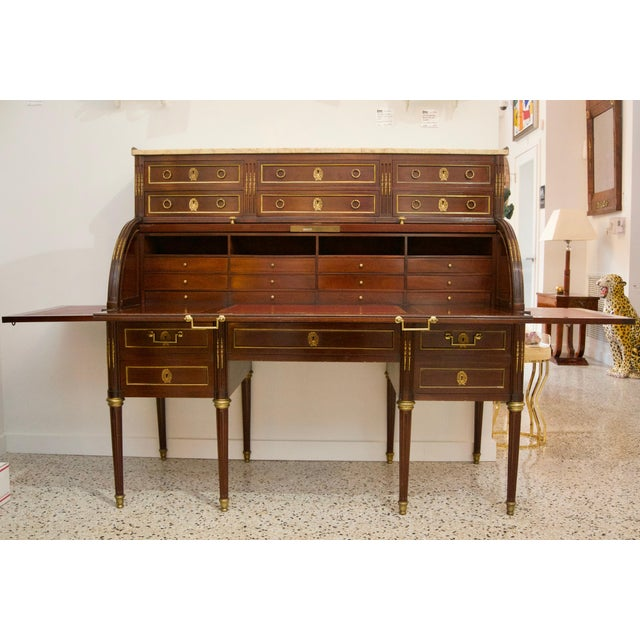 SALE - was $5,800. This stylish French Directoire style roll top desk was acquired from a Palm Beach estate and dates to...