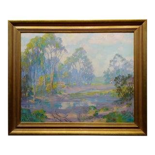 Harry Raymond Henry-Early Morning Near Laguna-Tonalist Oil Painting C.1930s For Sale