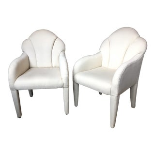 1970s Vintage Baughman Shell Back Armchairs - A Pair For Sale