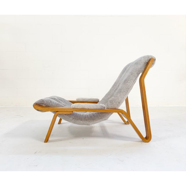 Harvey Probber Harvey Probber Suspension Chair Restored in Brazilian Cowhide For Sale - Image 4 of 12