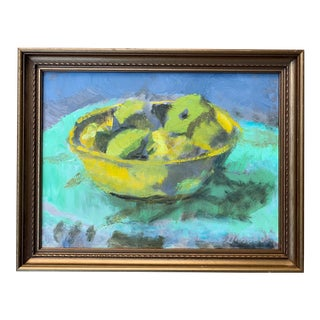 Original Still Life Painting With Fruit For Sale