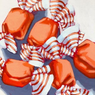 """""""Orange Taffy No. 12"""" Contemporary Still Life Acrylic Painting by Nicole Newsted"""