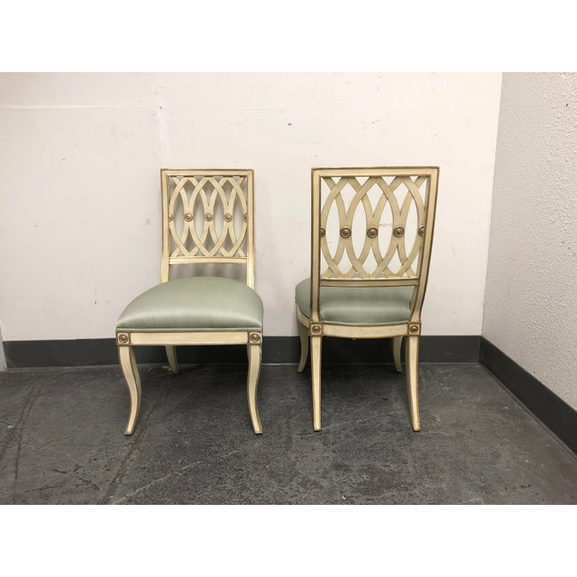 Mediterranean Horchow Maitland-Smith Pillar Chairs - a Pair For Sale - Image 3 of 13