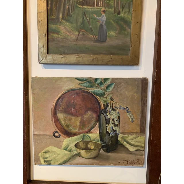 "Realism 1948 ""Oregon Grapes"" Still Life Painting by Bert Lobberegt For Sale - Image 3 of 7"