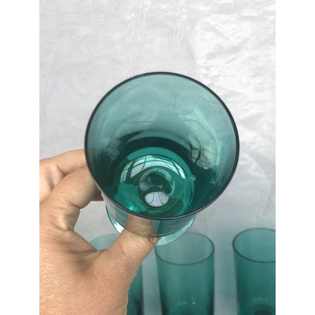 Glass 1950s Hand-Blown Swedish Juice Glasses- Set of 6 For Sale - Image 7 of 13
