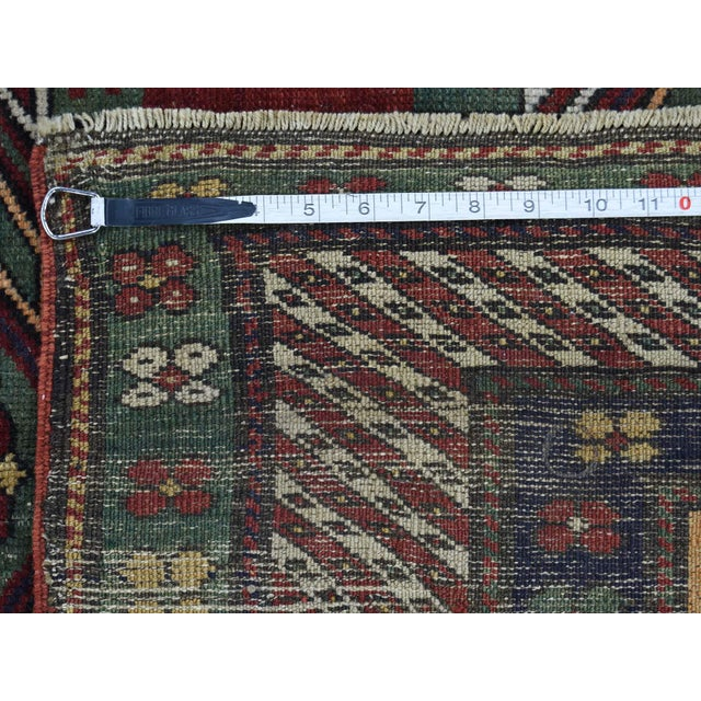 Antique Caucasian Kazak Hand Knotted Rug- 5′9″ × 8′5″ For Sale - Image 12 of 13
