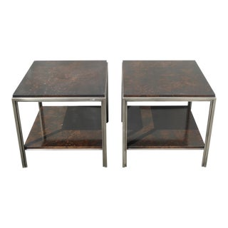 Contemporary Ethan Allen Avenue End Tables - a Pair For Sale