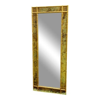 Hollywood Regency Gold Faux Bamboo Mirror For Sale