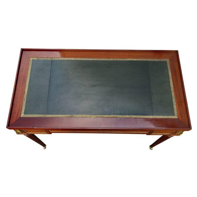 French Fine Louis XVI Mahogany and Ormolu Mounted Tric Trac Table For Sale - Image 3 of 12