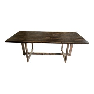 Custom Made Solid Wood Dining Table For Sale