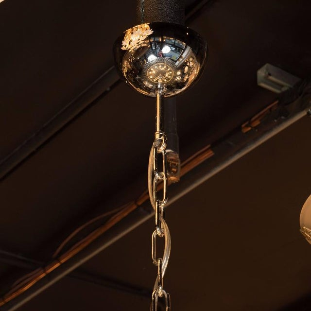 Modernist Handblown Murano Polyhedral Chandelier in Smoked Pewter For Sale - Image 4 of 8