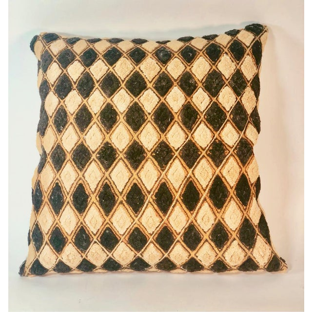 2010s Vintage African Mudcloth Pillow For Sale - Image 5 of 5