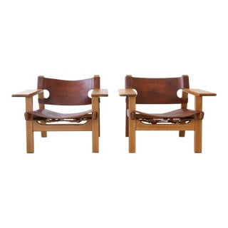 20th Century Danish Modern Børge Mogensen Chairs - a Pair For Sale