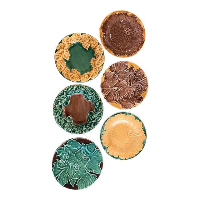 Leaf Style Dessert Plates - Set of 6 For Sale