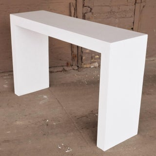 Cast Resin 'Lynne Tell' Console Table, White Stone Finish by Zachary A. Design Preview