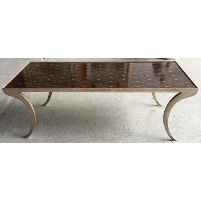 Ebony Dessin Fournir Coffee Table Rateau For Sale - Image 7 of 7