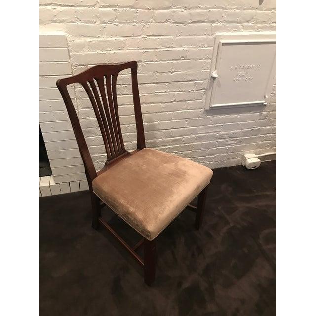 Arthur Brett Mahogany Sunbury Park Dining Chairs - Set of 10 - Image 3 of 10