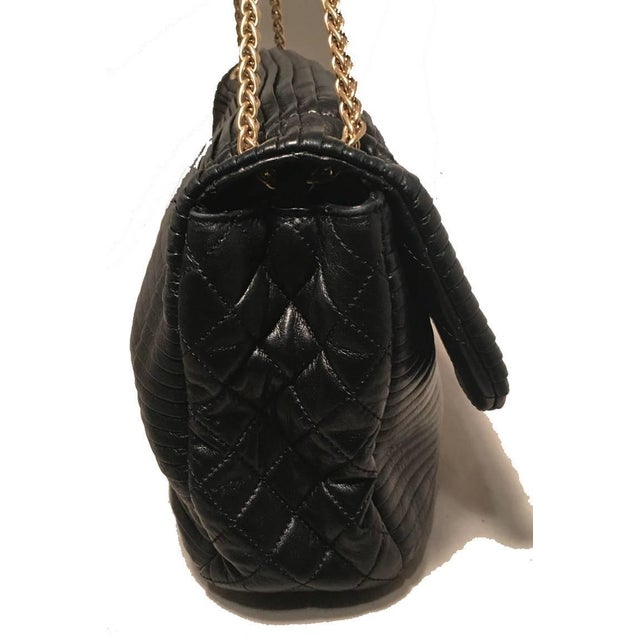 9af30b3e0d5a Chanel Chanel Black Pleated Leather Classic Flap Shoulder Bag For Sale -  Image 4 of 8